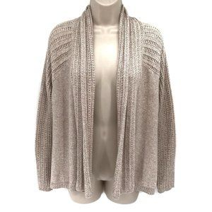 Sonoma Biege Open Front Sweater Cardigan M